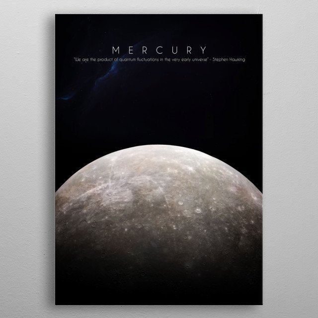 1st planet of our solar system metal poster