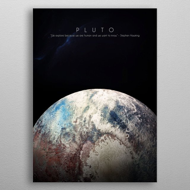 Previous planet of our solar system metal poster