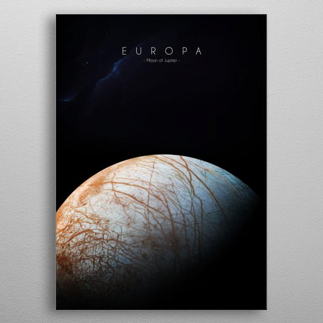 Moon of Jupiter metal poster