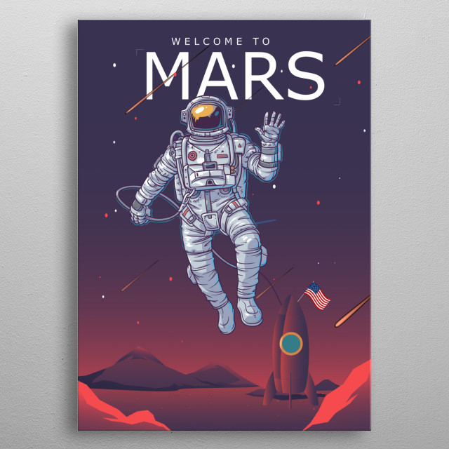 Welcome To Mars metal poster
