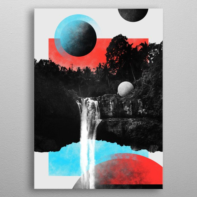 This piece of art is from collection of digital graphics named INFINITY by Viktor Jan. Make your space inspire you! metal poster