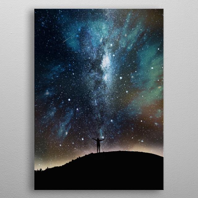 Among stars - Night sky  metal poster
