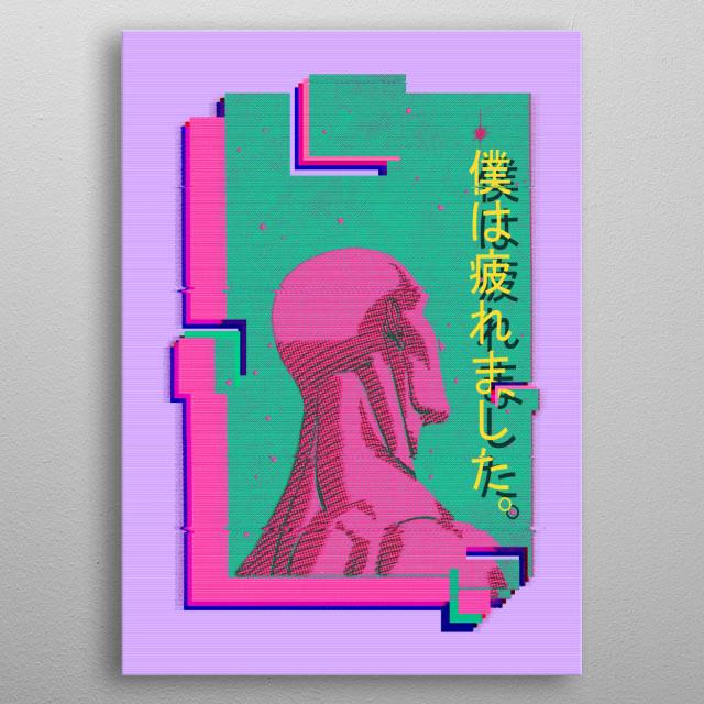 comics dc doctor manhattan metal poster