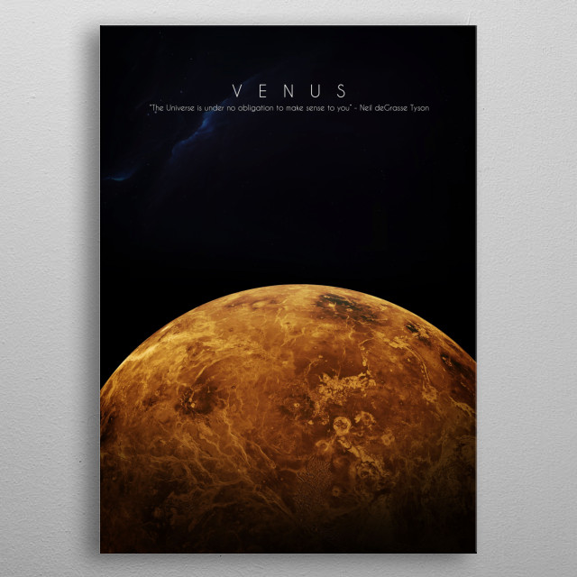 2nd planet of our solar system metal poster