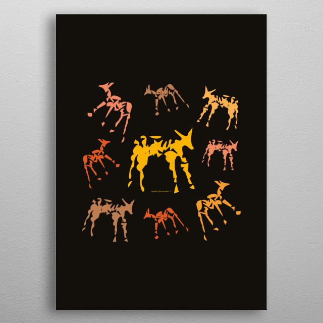 Modern design with animals. All rights reserved. metal poster