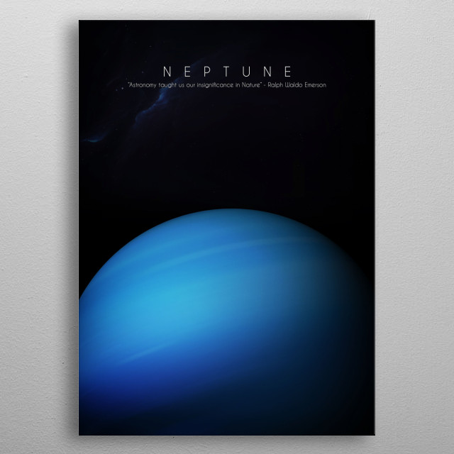 8th planet of our solar system metal poster