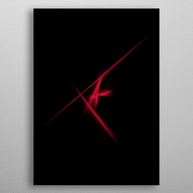 Abstract red lights  metal poster