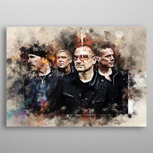 U2 adalah kelompok musik populer asal Irlandia metal poster