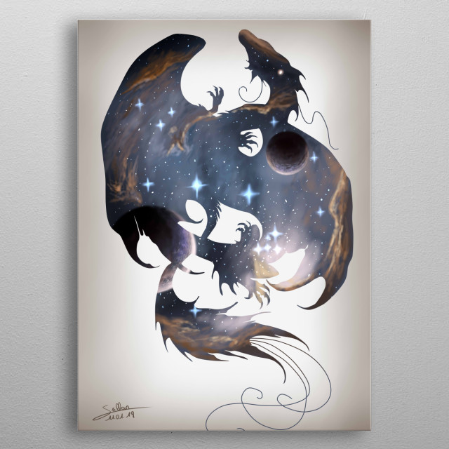 The 13th sign of the zociac. Artwork made for the Interstellar art challenge metal poster