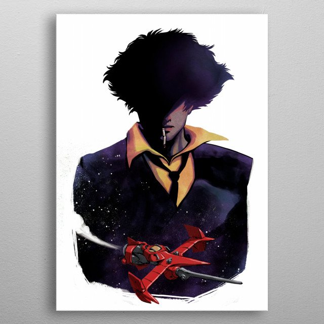 Spike Spiegel and the swordfish metal poster