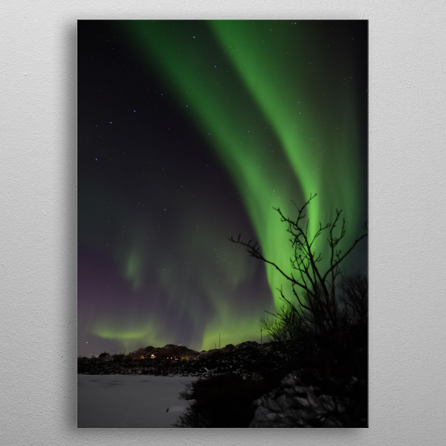 Aurora Lights metal poster