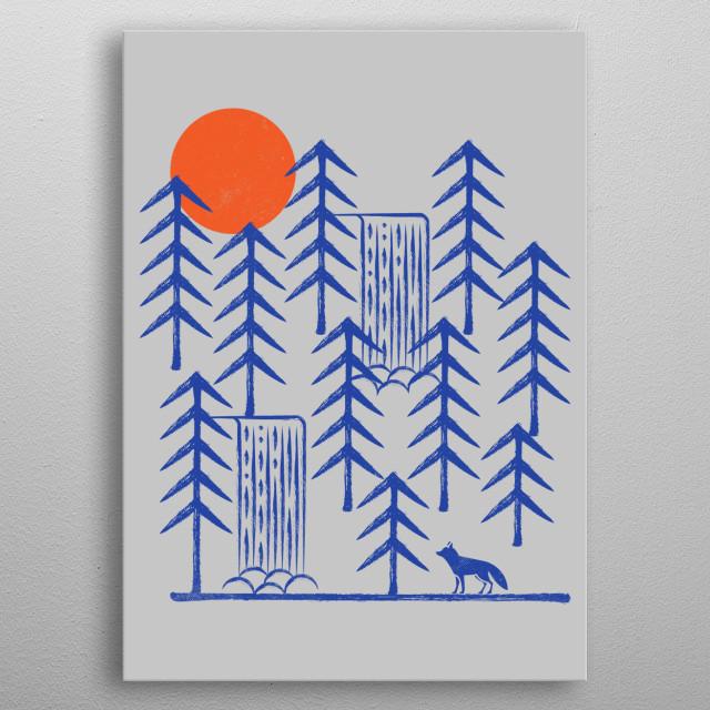 Wild Fox metal poster