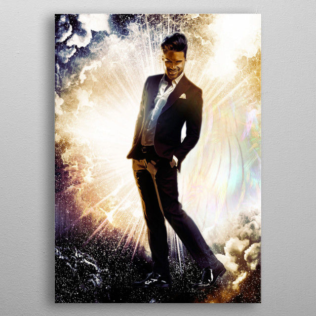 Lucifer as a mischievous but fun-loving angel, bringing knowledge and enlightenment - careful what you wish for... metal poster