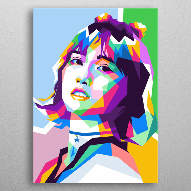 Hirai Momo is a one of member Twice. metal poster