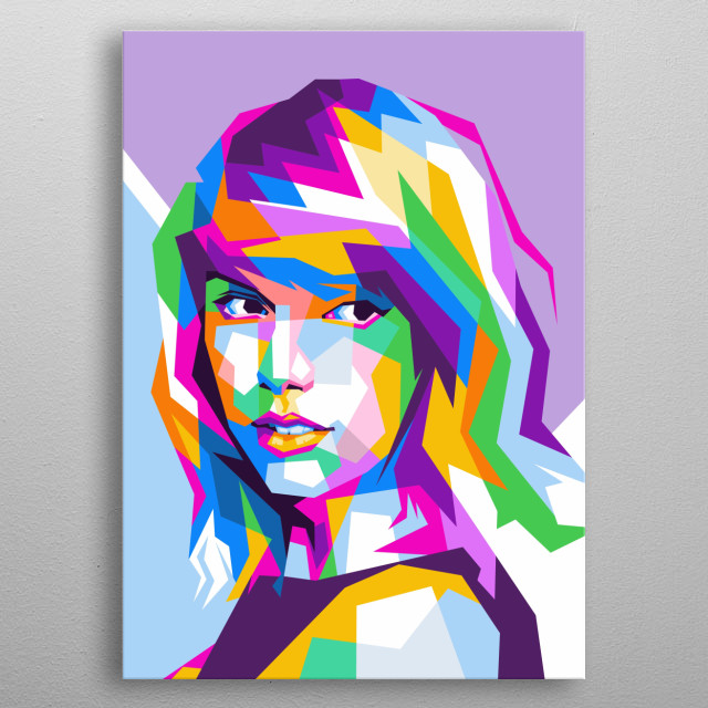Taylor Swift is a singer. metal poster