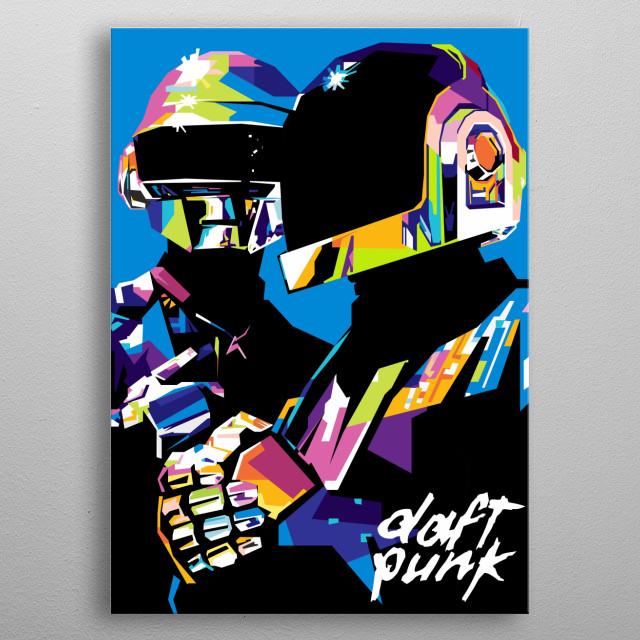 Daft Punk are a French electronic music duo formed in Paris in 1993 by Guy-Manuel de Homem-Christo and Thomas Bangalter. metal poster