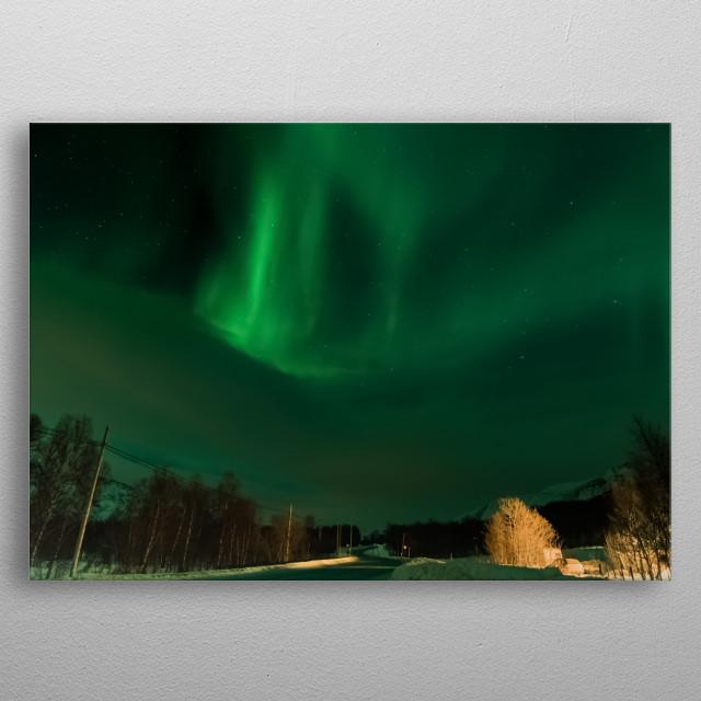 Aurora Lights metal poster