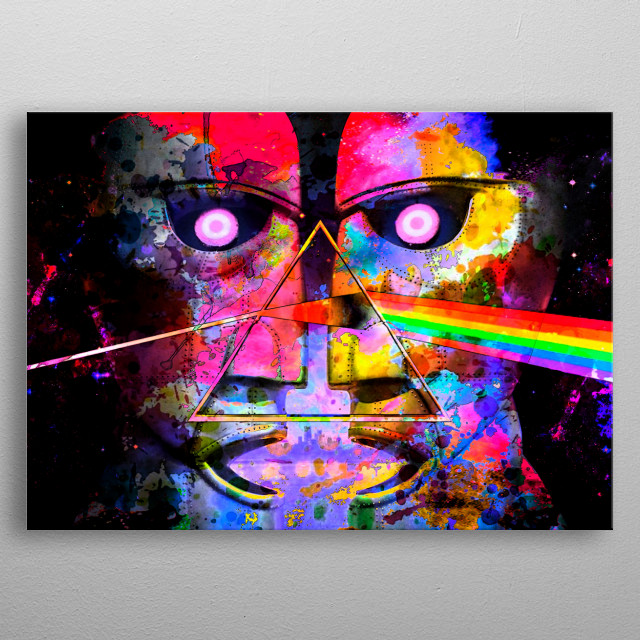 Art inspired by Pink Floyd's psychedelia metal poster
