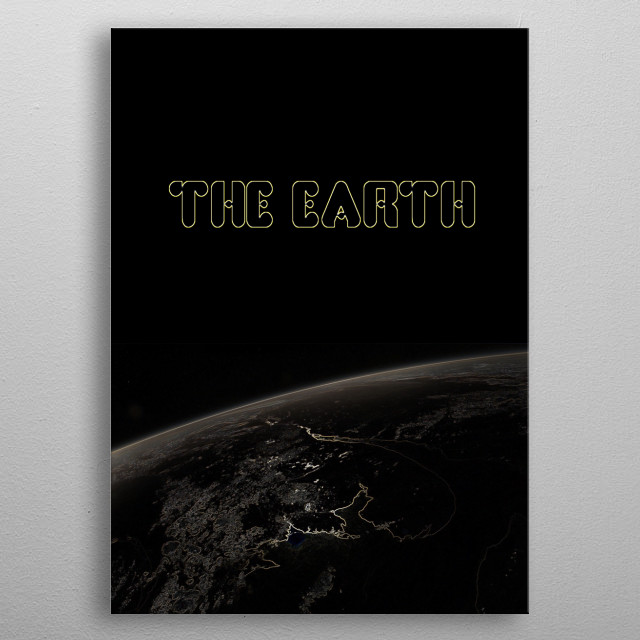 The Earth metal poster