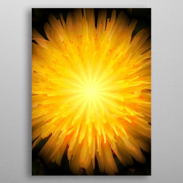 Amazing photo art version of a dandelion. metal poster