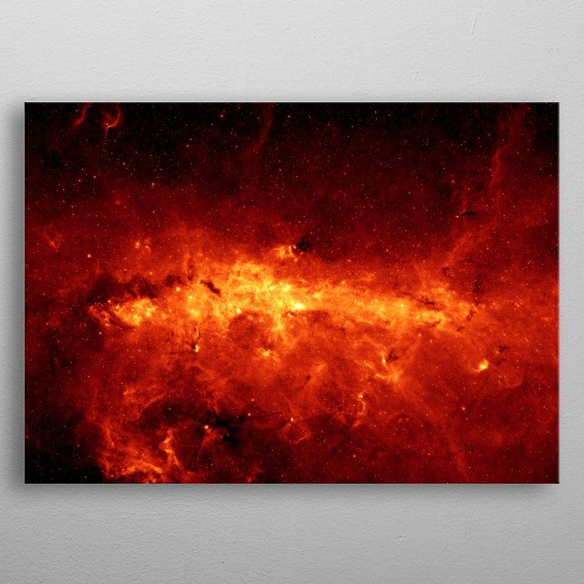 Our Milky Way is a dusty place. So dusty that we cannot see the center of the galaxy in visible light, only infrared. metal poster