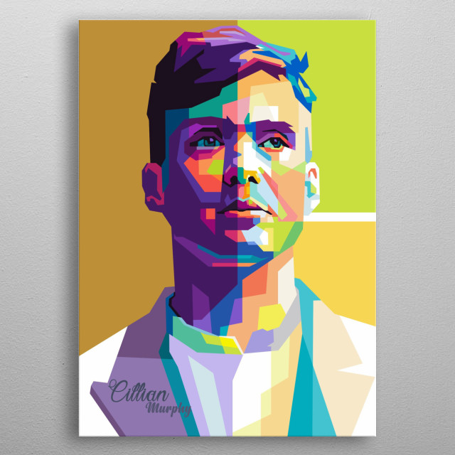 Cillian M is movies actor  on wpap popart portrait metal poster