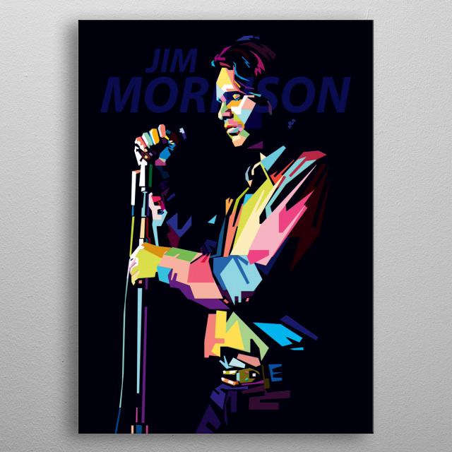 Jim morrison in pop art WPAP style metal poster