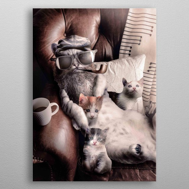 Pick up this funny Cat Dad design. This design makes a perfect gift for cat lovers so pick one up today.  metal poster