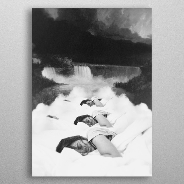 High-quality metal print from amazing Surreal Collages collection will bring unique style to your space and will show off your personality. metal poster
