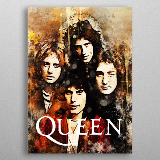 Queen is a rock band from the United Kingdom formed in 1970 in London metal poster