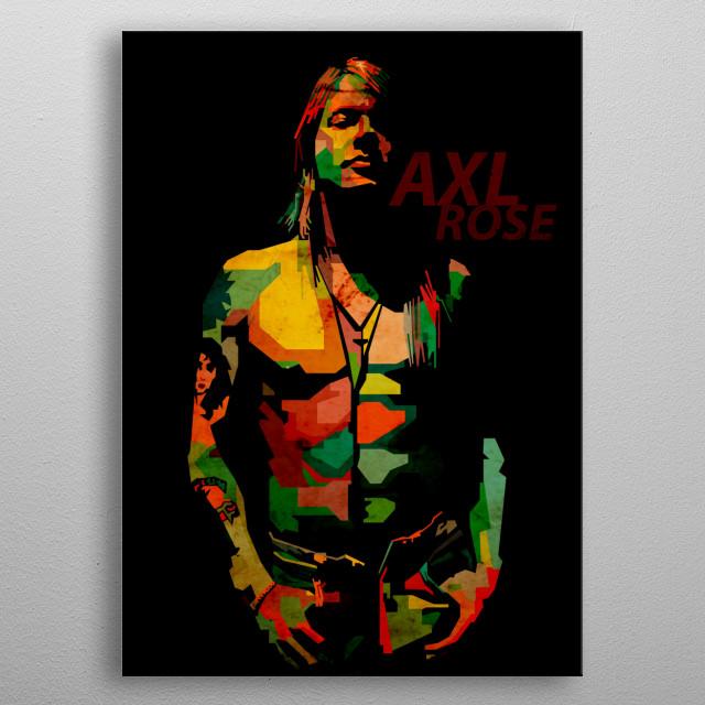 Axl rose in pop art WPAP metal poster
