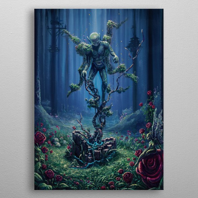 Painted at Electric Forest Festival 2018. Acrylic on Canvas.  metal poster