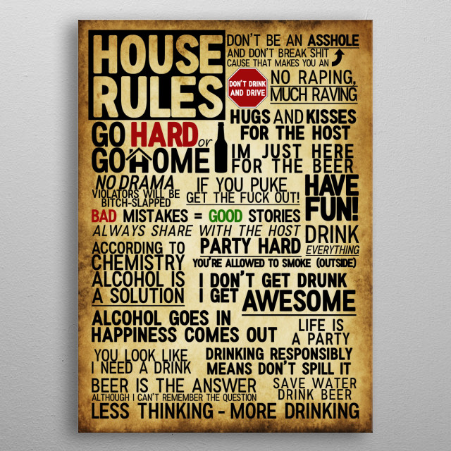 House Rules - the updated version. metal poster