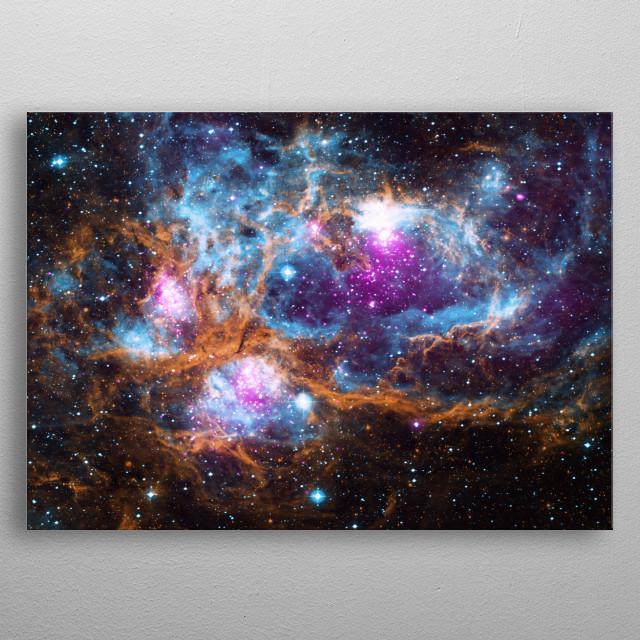 Lobster Nebula NGC 6334 metal poster