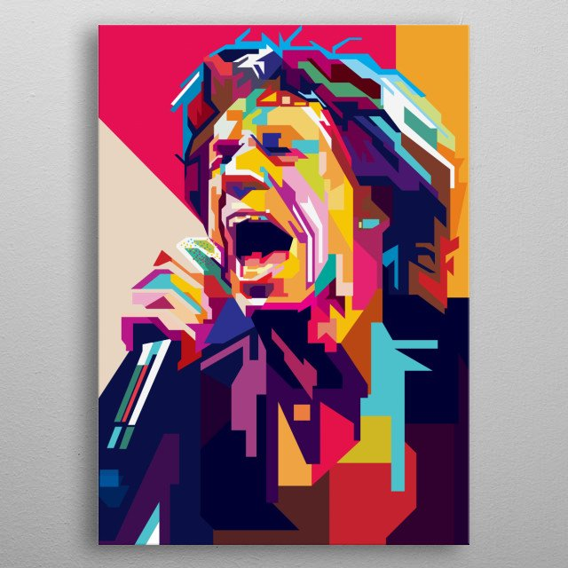 Sir Michael Philip Jagger, vocalist's rolling stone metal poster