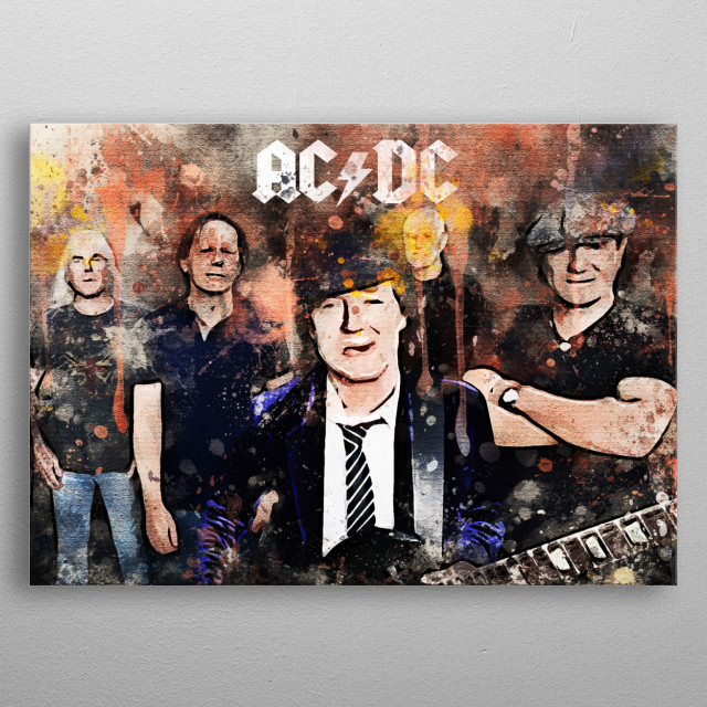 AC / DC is a hard rock music group formed in Sydney, Australia in November 1973 metal poster