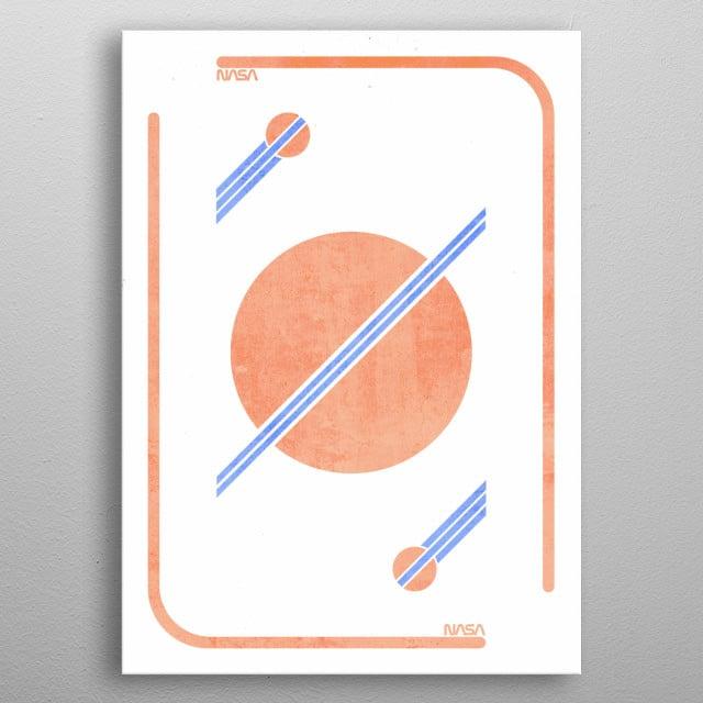 NASA inspired illustration. A good blend between modern and vintage. metal poster