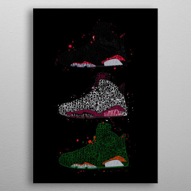 Air Jordan 6 Doodle metal poster