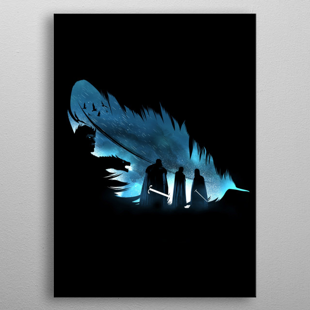 Lyanna's Feather metal poster