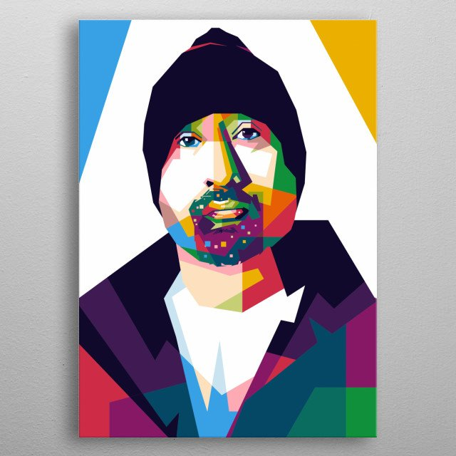 Director Movie, Style WPAP Pop Art in Design Ilustration  metal poster