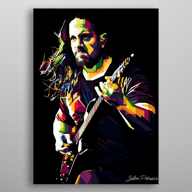 John Peter Petrucci is a musician and a guitarist who played for Dream Theater. metal poster