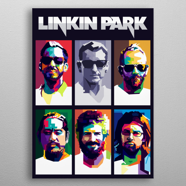 Linkin Park is an American rock band from Agoura Hills, California. Formed in 1996. We Love Linkin Park. metal poster