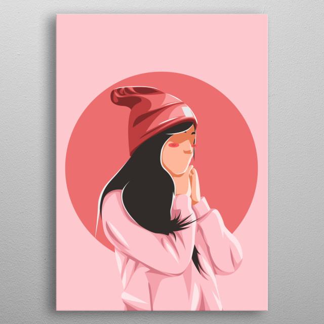 the women sweet alone inspiredwork  by artwork japan metal poster