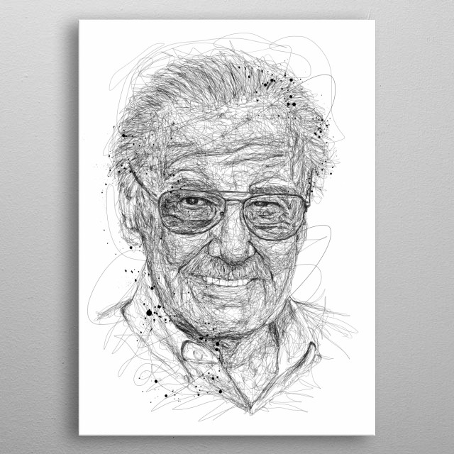 Stanley Martin Lieber was an American comic book writer, editor, and publisher who was active from the 1940s to the 2010s metal poster