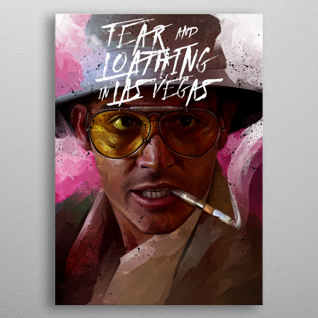 fear and loathing in las vegas metal poster
