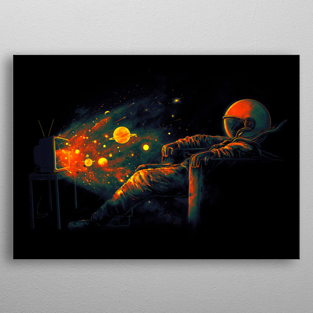 Tune in to Galactic Channel for more awesome cosmic wonders. metal poster