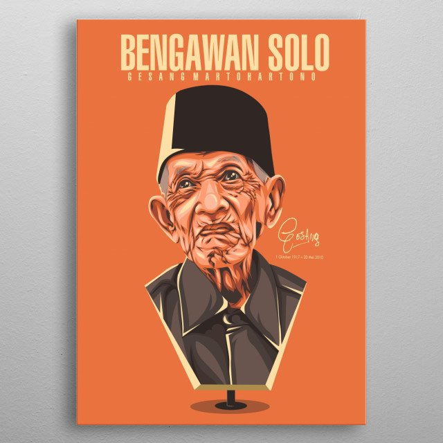 he maestro music keroncong from indonesia metal poster