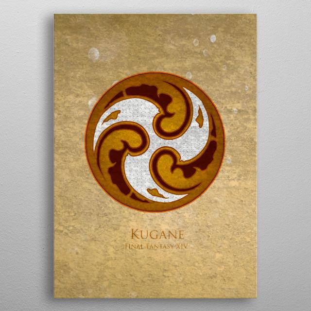 Kugane Flag metal poster
