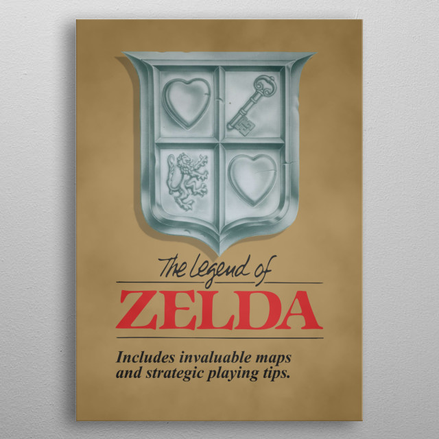 Poster artwork inspired by various classic vintage video game covers. metal poster