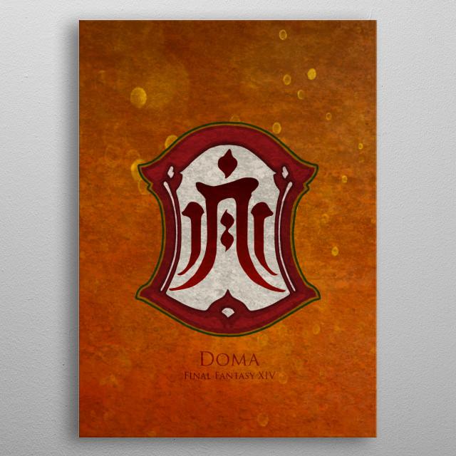 Doma Flag metal poster